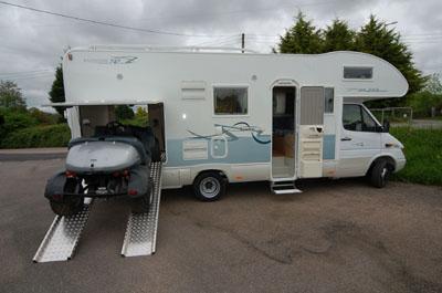 Southdowns motorcaravans new 2007 rimor superbrig for Motorhome with large garage
