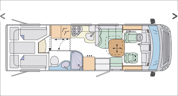 Southdowns New Motorhomes 2012 Concorde Credo Layouts