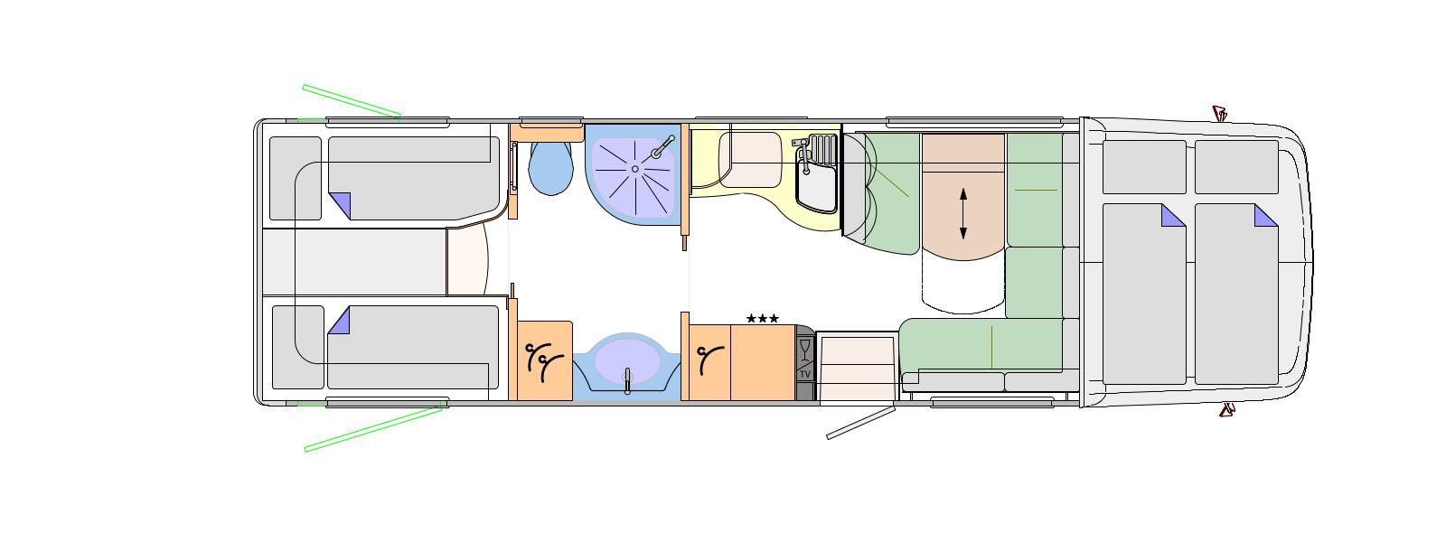 5c89acb7e643e6 2017 Concorde Cruiser 890L   890LR Mercedes-Benz Atego Coachbuilt Motorhome