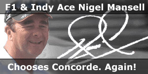 F1 Champion Ace Nigel Mansell Chooses Concorde Motorhome Again News Story