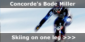 Concorde Motorhomes Sponsored Ski Champ Bode Miller Skis on One Leg News Story