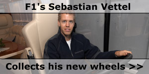 F1 Ace Sebastian Vittel in his New Concorde Motorhome News Story