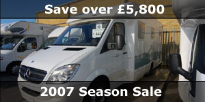 Save Over �5800 2007 End of Season Motorhome Sale Special Offers
