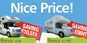 Rimor Motorhomes Nice Price Special Offer Deals