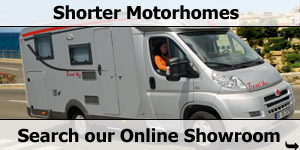 Shorter Length Motorhome Online Stock List Search