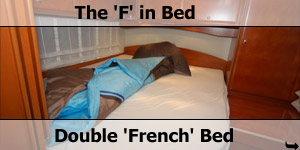 Double French F Motorhome Bed Configuration