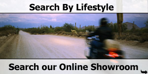 Desert Road Bike Lifestyle Searches of our Online Motorhome Showroom