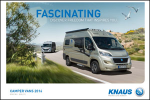 2016 Knaus Camper Vans Brochure Download