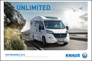 2016 Knaus Motorhome Brochure Download
