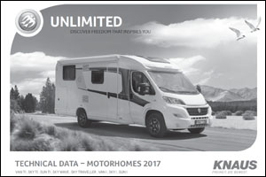 2017 Knaus Motorhome Technical Data Download