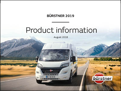 2019 Burstner Camper Van Brochure Downloads