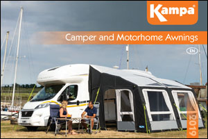 2019 Kampa Camper and Motorhome Awning Catalog Cover