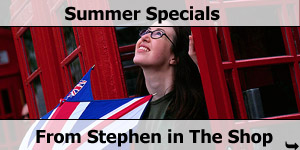 Summer Season Specials From Stephen In The Shop