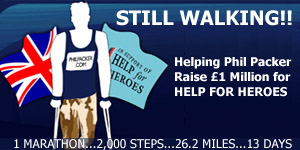 Major Phil Packer's London Marathon Walk in an attempt to Raise £1 million for Help For Heros