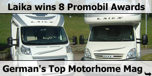 Laika win 8 Promobil Motorhome Magazin Awards