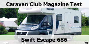 Caravan Club Test Swift Escape 686