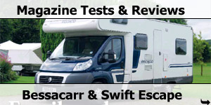 Motorhome Magazine Tests & Reviews on Bessacarr and Swift EScape Motorhomes
