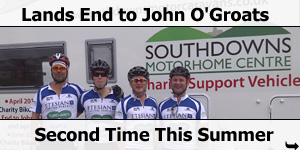 Lands End to John O'Groats Again in The Southdowns Charity Support Vehicle
