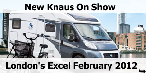 2012 Season Knaus Motorhomes at Excel Show February 2012