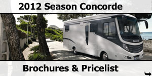 2012 Concorde Motorhome Brochure and Pricelist Downloads