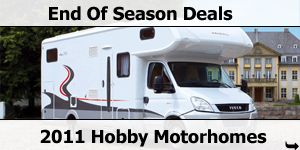 End of Season Deals on 2011 Hobby Motorhomes