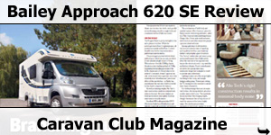 Caravan Club Magazine Test: Bailey Approach 620 SE