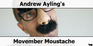 Andrew Aylings Movember Moustache