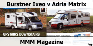 MMM Magazine Burstner Ixeo it726G Head to Head with Adria Matrix