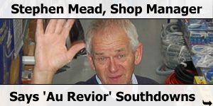Stephen Mead Shop Manager Says Goodbye
