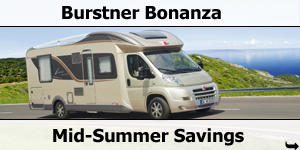 Burstner Bonanza Mid-Summer Savings at Southdowns Motorhome Centre