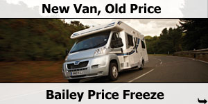 Bailey Motorhome Price Freeze - New Van Old Price