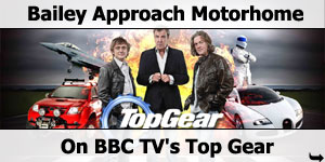 Bailey Approach Motorhome on BBC TVs Top Gear