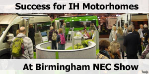 Great Success for IH at 2013 NEC Motorhome & Caravan Show