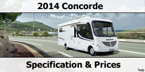 2014 Concorde Motorhome Specification & Prices