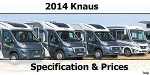 2014 Knaus Motorhome Prices & Specifications