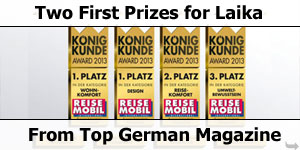 Two Awards For Laika From German Motorhome Magazone