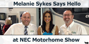 Mel Sykes stops by at NEC Motorhome Show