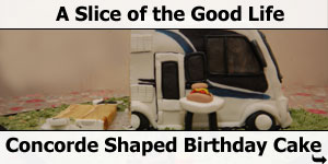 Concorde Motorhome shaped Birthday Cake