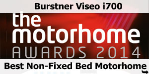 Burstner Viseo i700 Winner Best Non-Fixed Bed A2014 Motorhome Awards