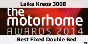 Laika Kreos 3008 Runner Up Best Fixed Double Bed 2014 Motorhome Awards