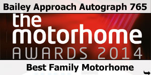 Bailey Approach Autograph 765 Winner Best Family Motorhome 2014 Motorhome Awards