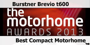 The Motorhome Awards 20013 Burstner Brevio t600
