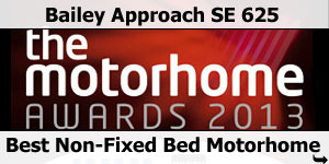 The Motorhome Awards 20013 Bailey Approach SE 625