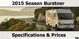 2015 Season Burstner Specifications & Prices