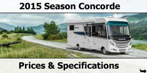 2015 Season Concorde Motorhomes Specifications & Prices