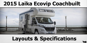 2015 Season Laika Ecovip Coachbuilt Specifications & Prices