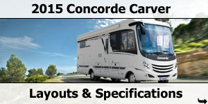 2015 Season Concorde Carver Specifications & Prices