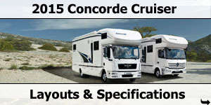 2015 Season Concorde Cruiser Specifications & Prices