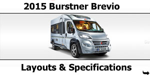 2015 Season Burstner Brevio Specifications & Prices