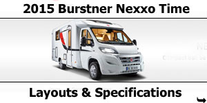 2015 Season Burstner Nexxo Time Specifications & Prices